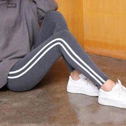 Plus size gothic leggings online shopping - Size Plus S xl Leggings Women Gothic Side Striped Legging Stretch High Waist Black Leggins Pants good quality