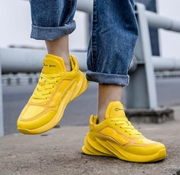 koreans fashion sneakers NZ - Korean casual men's shoes fashion wild thick bottom sneakers youth bright shoes men's shoes