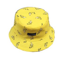 3c8a5ab9d87 Bucket cap Man Women Unisex cotton Banana Hat Bob Caps Hip Hop cool outdoor  sports Summer ladies Beach Sun Fishing Bucket Hats