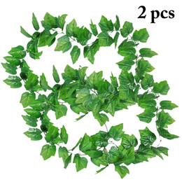 $enCountryForm.capitalKeyWord Australia - 2PCS Artificial Vines Decorative Hanging Plant Leaves Artificial Grape Leaves for Home Decoration