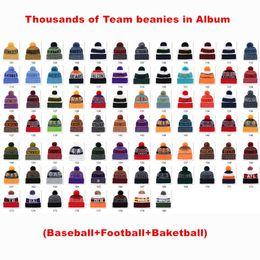 $enCountryForm.capitalKeyWord Australia - New Arrivel American Winter Beanie Knitted Hats Sport Teams Baseball Football Basketball Beanies Mens and Womens Pom Classic Winter Warm Cap
