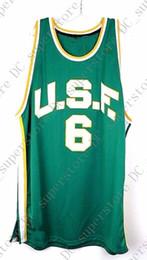 cc873b4ddf7 Discount bill russell jersey - Cheap custom USF Green #6 Bill Russell  College Retro Basketball