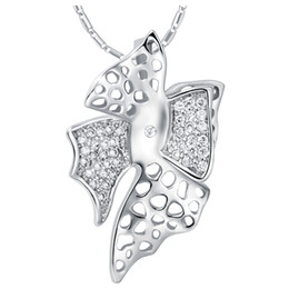 Unique Best Friend Jewelry UK - White G Plated Crystal Unique Design Pendant Necklace Jewelry For Best Friends Chains Necklaces Gifts
