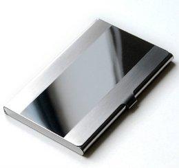 Ingrosso Vendita calda 2019 Titolare della carta in acciaio inossidabile Portafoglio di carta d'identità per uomo d'affari Portafoglio per uomo in alluminio argento di lusso #Zer