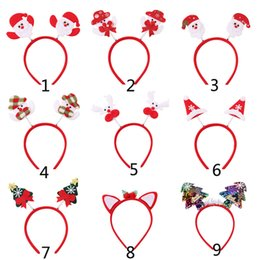 christmas sequins Australia - Hair Accessories Christmas Hairbands for Women Girls Cartoon Santa Claus Snowman Antler Tree Sequin Headband New Fashion