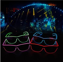 el wire pc Australia - LED Party Glasses Fashion EL Wire Glasses Creative Travel Birthday Halloween Party Bright Eyewear Bar Fluorescent Dance Decorative TLZYQ1056