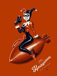 $enCountryForm.capitalKeyWord Canada - Cartoon Art Harley Quinn With A Gun,Oil Painting Reproduction High Quality Giclee Print on Canvas Modern Home Art Decor