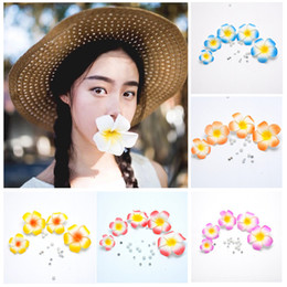 $enCountryForm.capitalKeyWord Australia - 20Pcs Plumeria Hawaiian Foam Frangipani Flower Artificial Silk Fake EGG Flower For Wedding Party Decoration