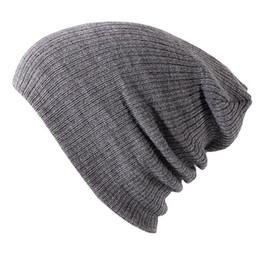 Chinese  Soft Knitted Hat Female Men Cap Women's Cotton Beanies For Girl Winter Autumn Skullies 2018 New Plain Hats Female Solid Bonnet manufacturers