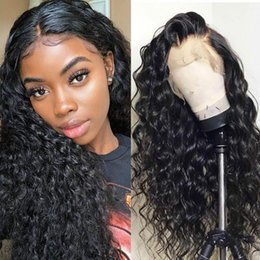 "human hair wig long curly NZ - Curly 10A Human Hair Wigs 8""-24"" inch full lace human hair wigs Brazilian Long Curly Lace Front Wigs Peruvian Indian Hair"