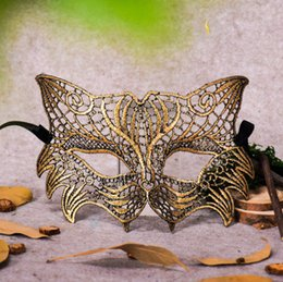 Wholesale 2019 Lace sexy Mask Catwoman Fox Mask Costumes Halloween Party Mask Masquerade cosplay party decoration Mask