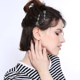Diamonds Hair China Australia - 2019 European and American fashion ladies creative crystal inlaid hair accessories hairpin exquisite simple arrow accessories