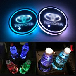 $enCountryForm.capitalKeyWord Australia - 2PCS LED Cup Holder Mat Pad Coaster with USB Rechargeable Interior Decoration Light for Toyota