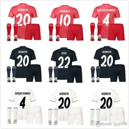 7426559f2 18 19 Real Madrid soccer jerseys adult sets 2018 2019 ASENSIO MODRIC BALE  ISCO RAMOS SUAREZ football shirts home away men s kits custom