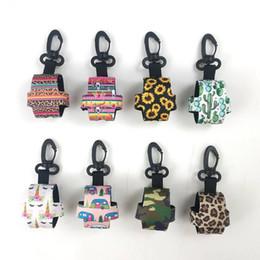 Hand Hooked Bag Australia - Neoprene Leopard Bag Charmer Wholesale Blanks Camo Hand Washing Bottle Wrap Sunflower Hook Gift Bag Charmer DOMIL1238