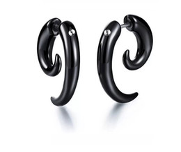 black sheep gifts UK - 2019 New Hot sale fashion gifts Creative Style Black horn sheep horn crooked snail Earrings A10068