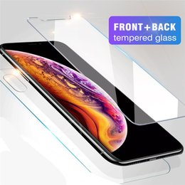 $enCountryForm.capitalKeyWord Australia - Front and Back Tempered Glass Rear CAMBO For NEW Iphone XR XS MAX X Screen Protector Film 0.26mm 2.5D 9H Anti-shatter With Package
