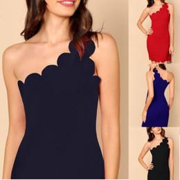 f85a6859e640 Mini vestito dalle donne di modo di Bodycon moderno sottile di colore  solido della spalla di modo vestito da sera elegante del partito delle  signore