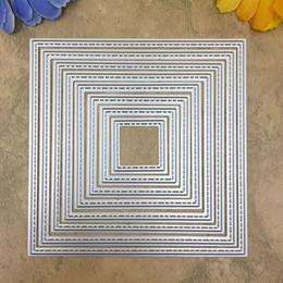 Cards Makers Australia - 8 Pieces Square set Metal Cutting dies Scrapbook DIY album Card Paper Card Maker Metal Die cut Stencil Embossing Folder 120mm