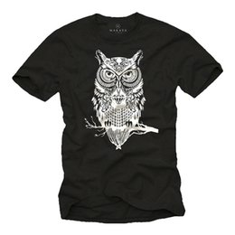 Wholesale swag prints shirt for sale – custom Owl T Shirt Mens Men Swag Hipster Owl Fashion Print Print Print Cool