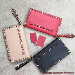 $enCountryForm.capitalKeyWord NZ - Hot sale new styles women clutch bag genuine leather designer color rivet women hand bag