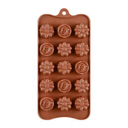 $enCountryForm.capitalKeyWord UK - 3D Flower Series Shape Cake Mold For Baking 15 Holes Bakeware Tools Rose Silicone Chocolate Molds