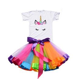 Discount little girls casual party dresses - Summer Unicorn Baby Girls Tutu Dress Children Unicorn Party Little Girl Kids Clothes Vestidos Princess Rainbow Outfits D