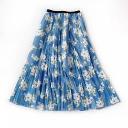 Tail bow online shopping - Female Ice Tule Summer Smoke Women s High Tails Sun Flowers Printing Soft Rok Women s Midi Rokken Saias Faldas Grote