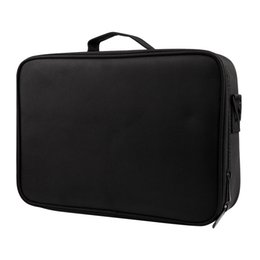 Train Cosmetic Bags NZ - LJL-Large Capacity Makeup Case 3 Layers Cosmetic Organizer Brush Bag Makeup Train Case Artist Box For Hair Curler Hair