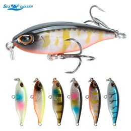 lure fishing sea bass NZ - 6pcs NEW Pencil Lure 45mm 3.5g Floating Pencil Bait Minnow 3D Eyes Artificial Bait Crankbait Sea Bass Carp Fishing Lure