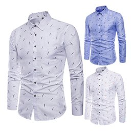 $enCountryForm.capitalKeyWord Australia - Newly Men's Shirt Lapel Long Sleeve Printing Casual Slim Gift For Business Party Dating