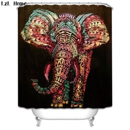$enCountryForm.capitalKeyWord Australia - Shower s LzL Home Fashion Polyester Waterproof Shower Curtain Funny Elephant Dog Bathroom Curtain Mildewproof Bath Curtain Home Decor
