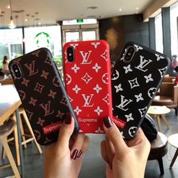 Vente en gros Designer de luxe cas de téléphone Sup marque de mode cas de téléphone pour IPhone X XS Max XR 6 6 s 7 8 8 plus arrière couverture arrière