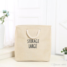 Wholesale garage clothes for sale - Group buy Fold Storage Box Large Size Basket Cotton Rope Handle Dirty Clothes Bucket Thickening Double Deck Hot Sale Big Bag ytB1