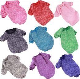 $enCountryForm.capitalKeyWord UK - Autumn Winter Pet Dog Sweater For Small Medium Dog Clothes Fashion Cotton Warm Coat For Teddy Chihuahua Shirt Clothing 9 Colors XS XXL