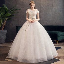 thin simple wedding dresses NZ - Bridal one shoulder dress lace waistband shows thin new style two shoulders simple back strap Chinese tremolo same wedding dress