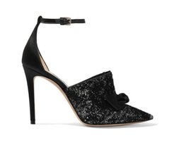 $enCountryForm.capitalKeyWord Australia - Black sequins women's fashion evening dress shoes pointy belt style elegant model runway sexy high heels for women