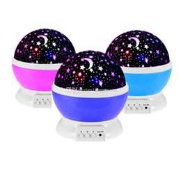 $enCountryForm.capitalKeyWord Australia - Lover Gifts Romantic Led Night Lamp Rotating Starry Star Moon Sky Rotation Night Lighting Projector Lamp Kids Children Baby Sleeping Lights