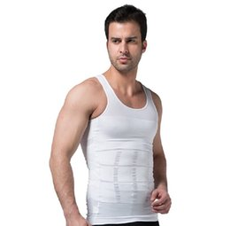 73a57e39884db 2018 Men Slimming Body Shaper Tummy Shaper Vest Slimming Underwear Corset  Waist Waist Cincher Men Bodysuit Dropshipping