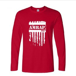 best fashion t shirt brands 2020 - Mens designer t shirts Mens casual long-sleeved T-shirt spring and autumn Best seller tide brand AMRAP letter printing c