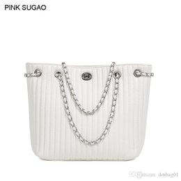 Chain style designer ClutCh online shopping - Pop2019 Pink Sugao Designer Handbags Shoulder Chain Bag Women Purses And Handbags Genuine Leather Luxury Handbags Clutch Bag Color Style