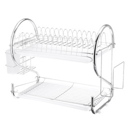 multifunctional kitchen rack Australia - 2 3 Tiers Multifunctional Dish Drainer Cutlery Cup Drying Holder Rack Stainless Steel Drainer Kitchen Accessories Organizer