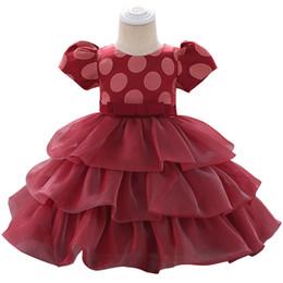 $enCountryForm.capitalKeyWord Australia - Newborn Baby Girl Dress Christening Dress For Baby Girls Party Princess Infant Clothing For Girl 3 6 9 12 18 24 Month