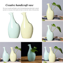 ceramic birds 2019 - Ceramic Crafts Vases Simple Personality Flowers and birds Modeling Home Decorations Creative Dried flowers Insert cheap