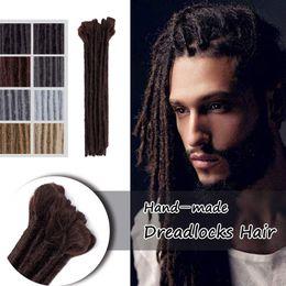 12 Packs Australia - Hot! Handmade Dreadlocks Hair Extensions Black 12 inch Fashion Reggae Hair Hip-Hop Style 5Strands Pack Synthetic Braiding Hair For Men