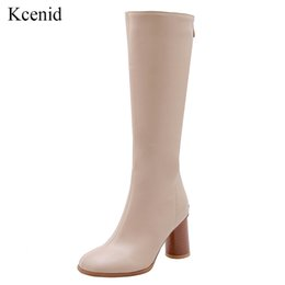 $enCountryForm.capitalKeyWord Australia - Kcenid Female high quality knee high boots women PU leather winter boots women comfortable heels long shoes new
