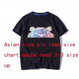 2018 Designer D'été T-shirts Pour Hommes Tops Tête De Tête Lettre Broderie T-shirt Pour Hommes Marque À Manches Courtes Tshirt Femmes Tops S-2XL
