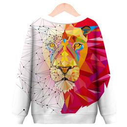Lion Suit Australia - European and American Couple Wear Sweater Color Lion Head 3D Digital Printing Suit Autumn Winter Wear A0394