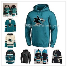 ingrosso personalizza hoodies-2019 Men s Hoodies Jersey San Jose Sharks Erik Karlsson Brent Burns Joe Pavelski Logan Couture Evander Kane Couture personalizzato
