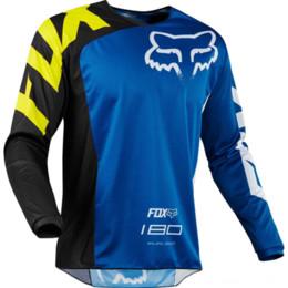 Toptan satış Hız aşağı Fox TLD bisiklet takım bisiklet yarış takım elbise bisiklet kazak yarış giyim uzun kollu motosiklet giyim